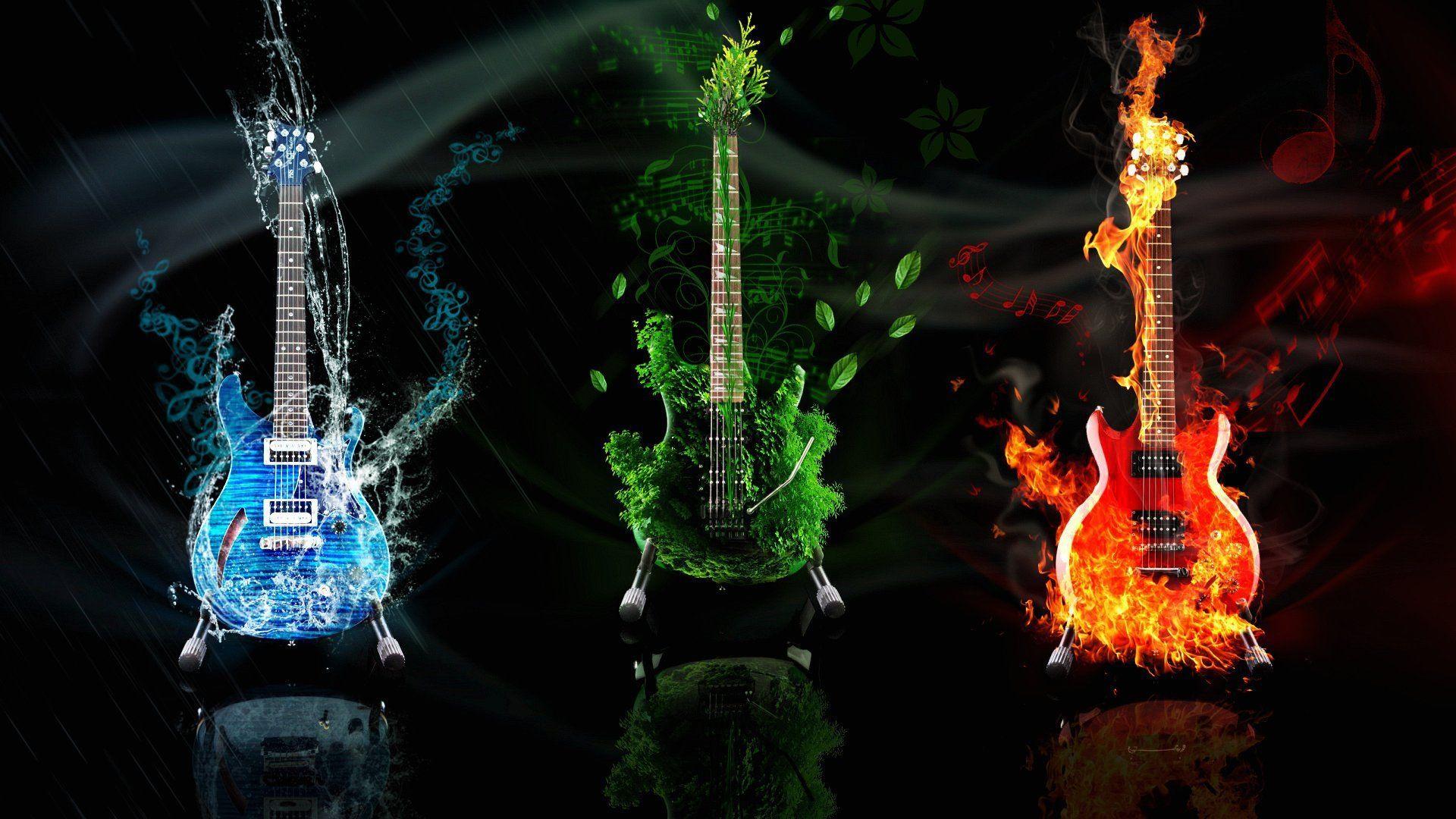 Guitar Abstract, Free Desktop Wallpaper