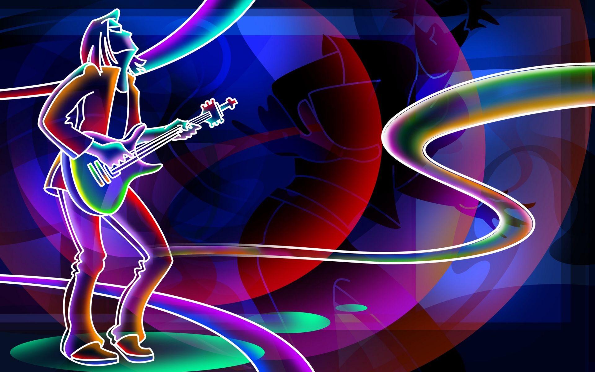 Guitar Abstract, PC Wallpaper HD