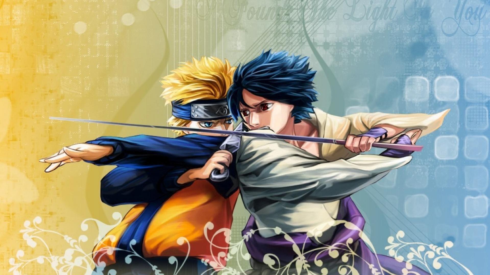Naruto and Sasuke, Free Download Wallpaper