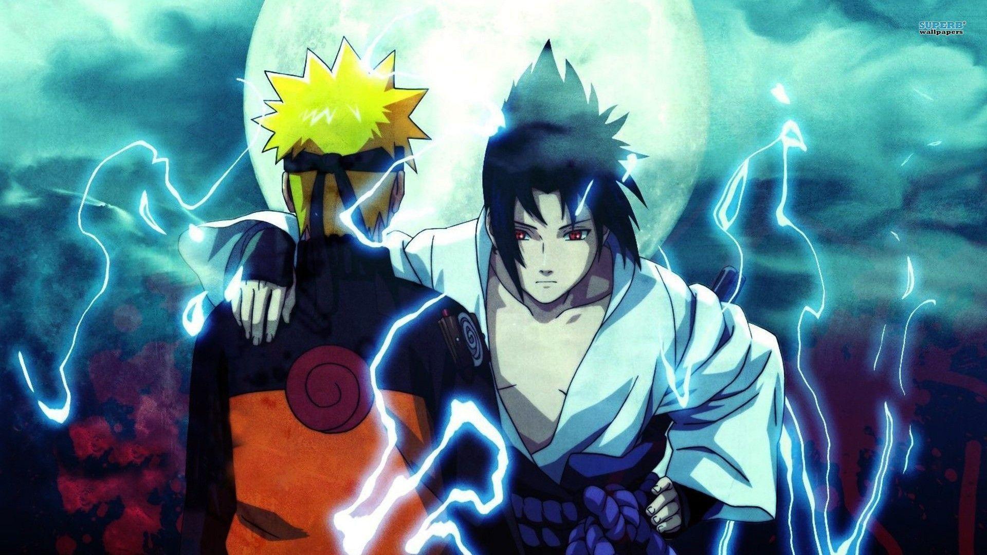 Naruto and Sasuke, PC Wallpaper HD