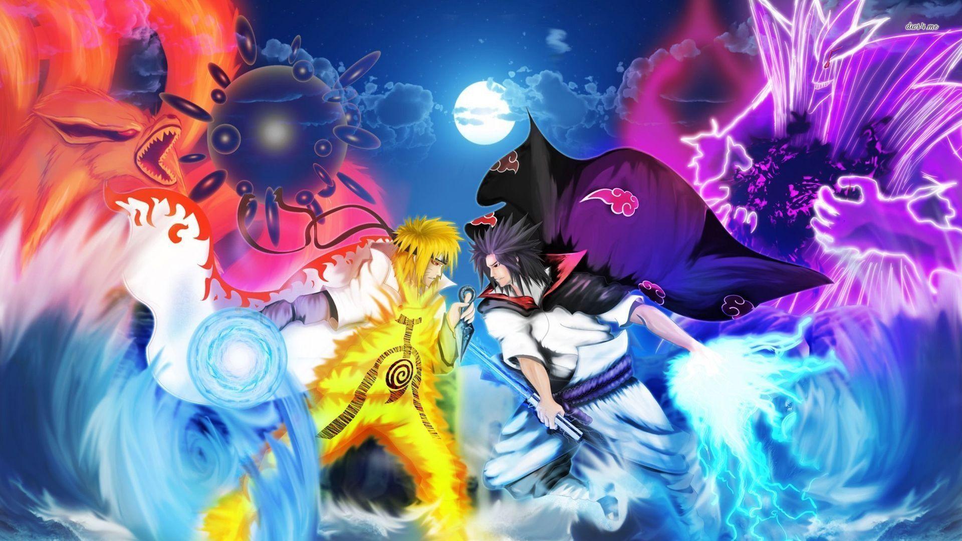 Naruto and Sasuke, Download Wallpaper