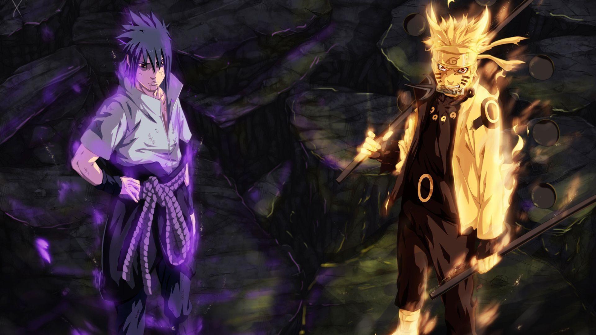 Naruto and Sasuke, HD Wallpaper