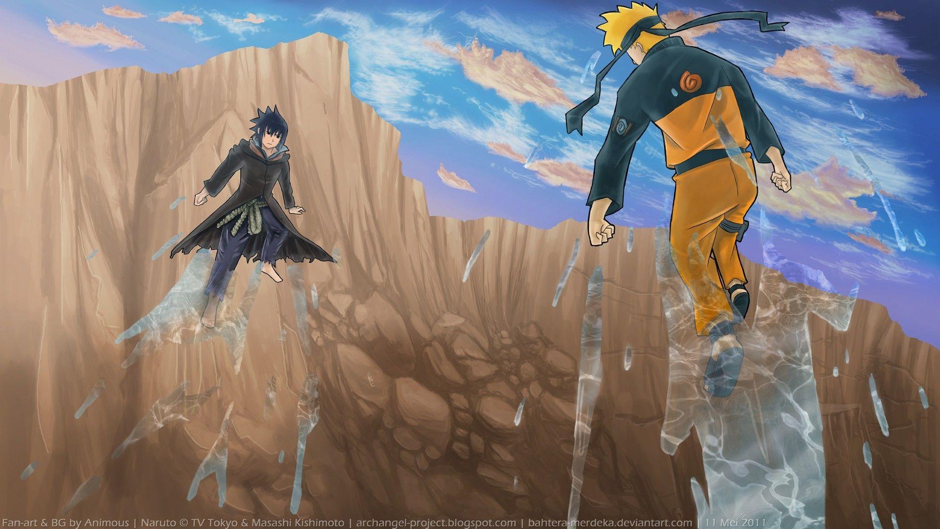 Naruto and Sasuke, Free Wallpaper