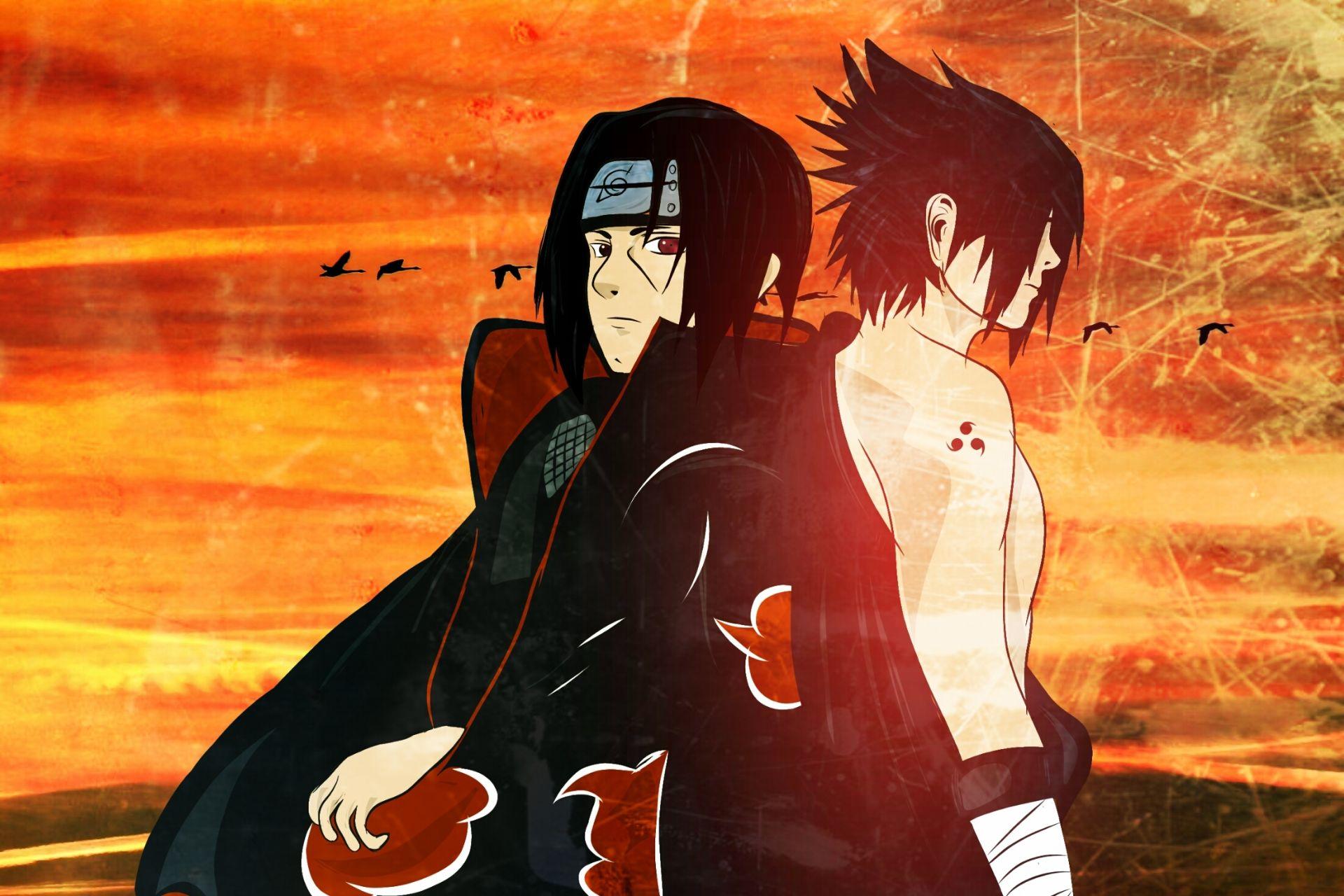 Naruto and Sasuke, PC Wallpaper