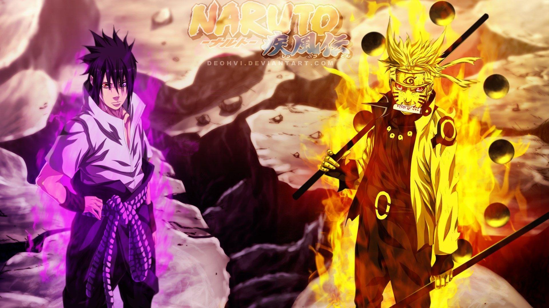Naruto and Sasuke, HD Desktop Wallpaper