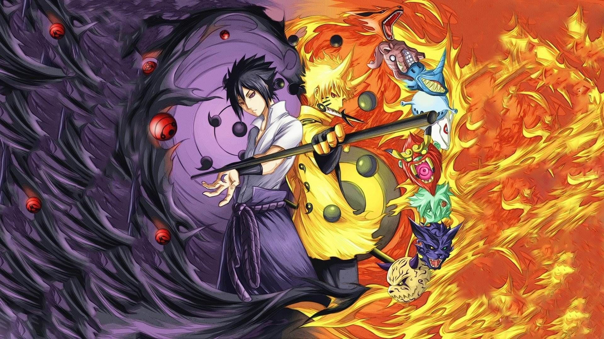 Naruto and Sasuke, Wallpaper and Background