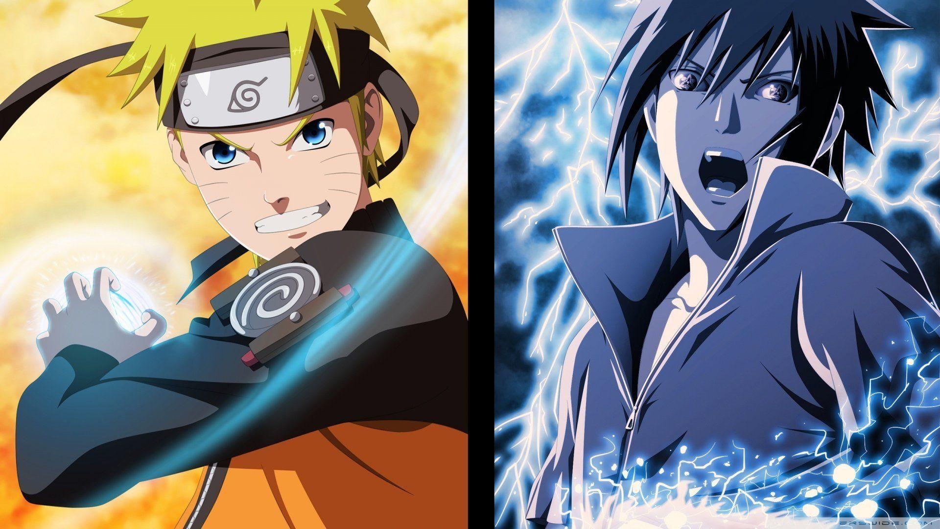 Naruto and Sasuke, Free Wallpaper and Background