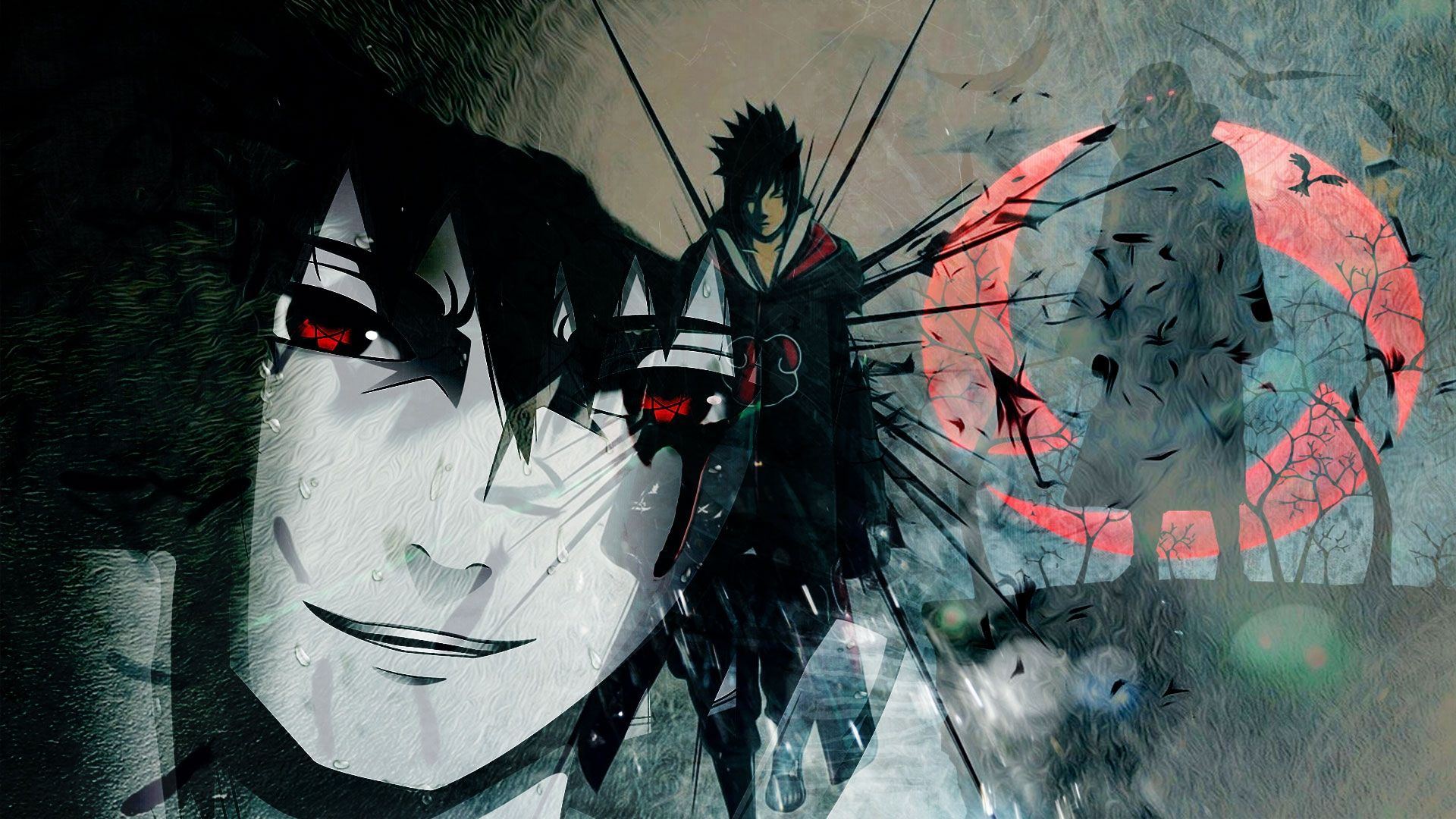 Naruto And Sasuke art, Background Wallpaper HD