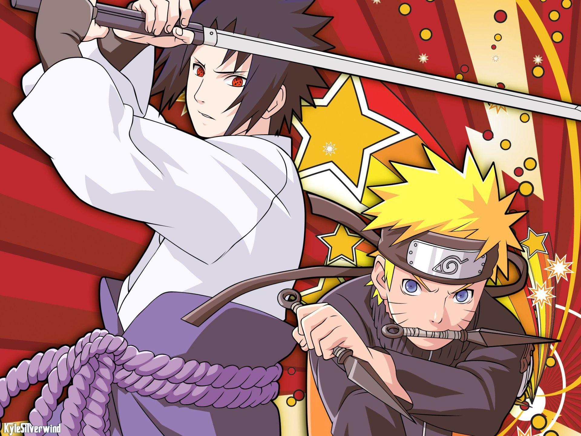 Naruto And Sasuke art, Background