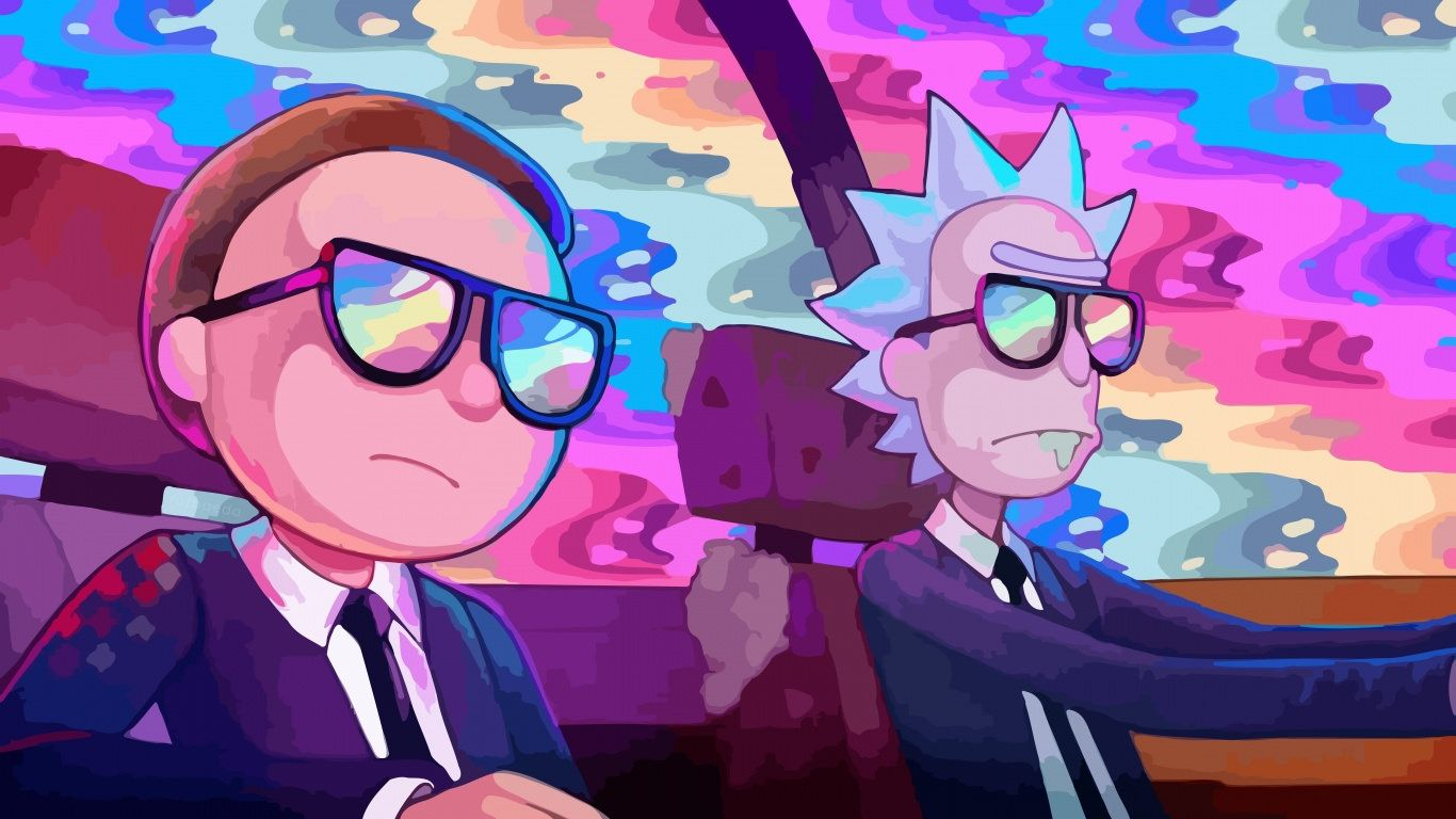 Rick and Morty Trippy cool wallpaper