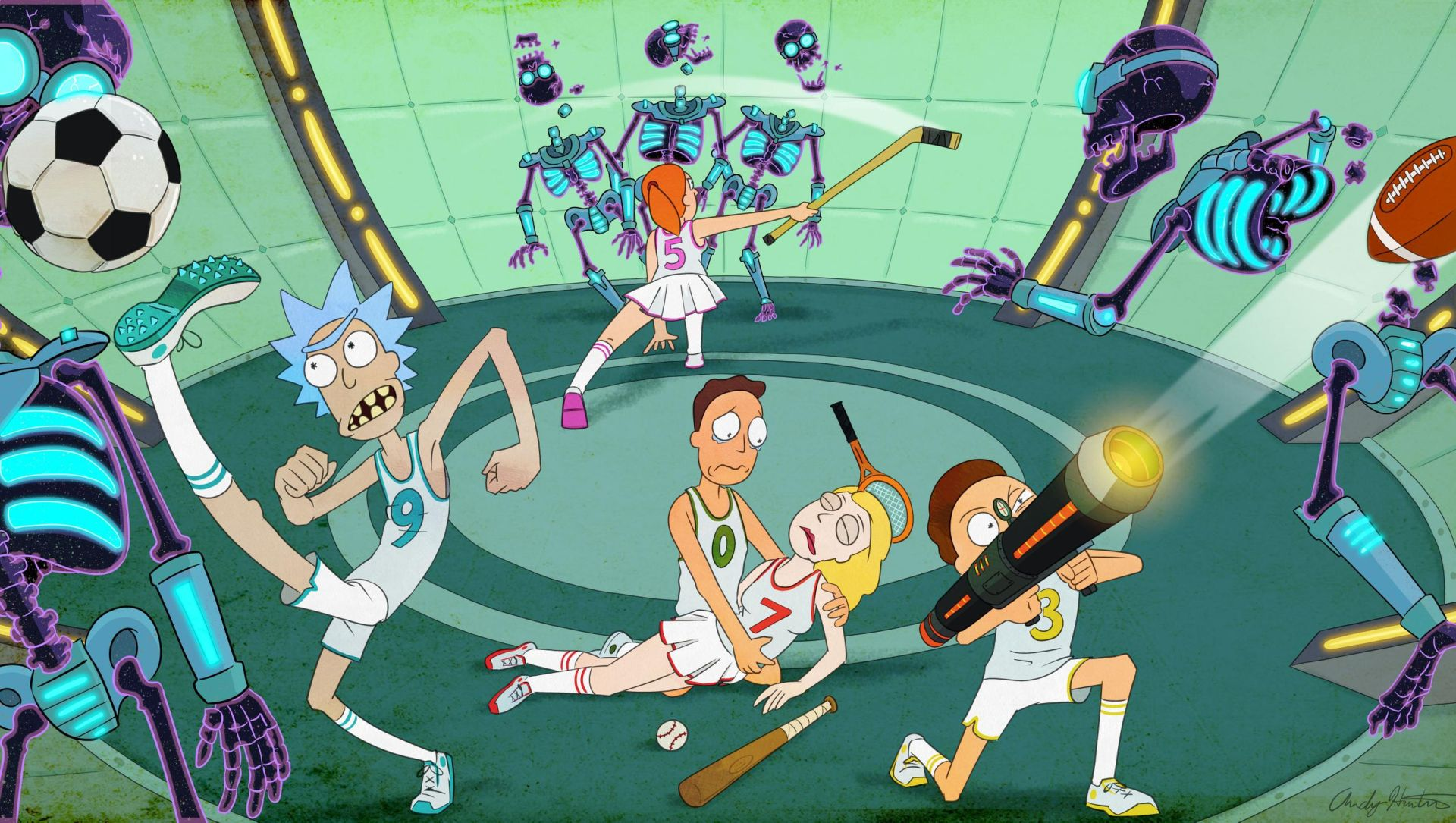 Rick and Morty Trippy wallpaper
