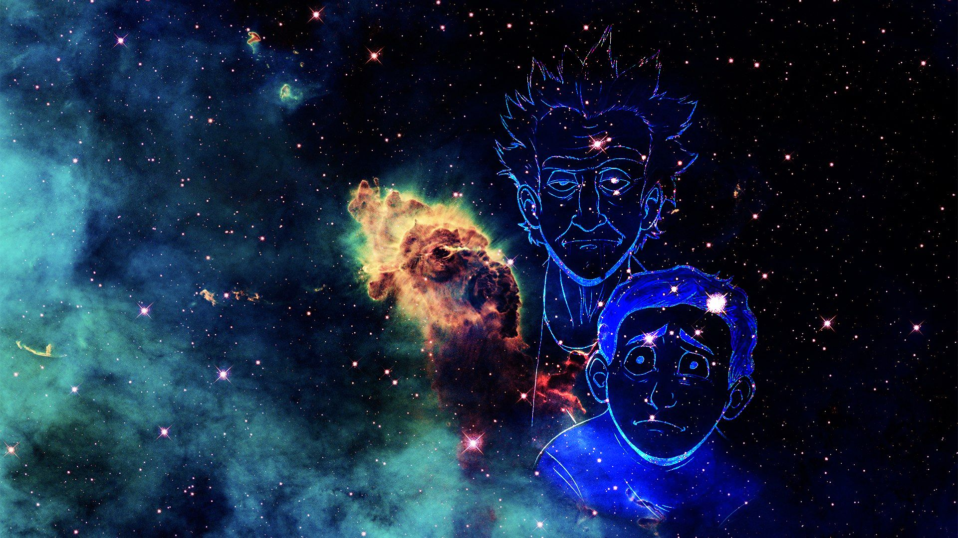 rick and morty trippy wallpaper 037