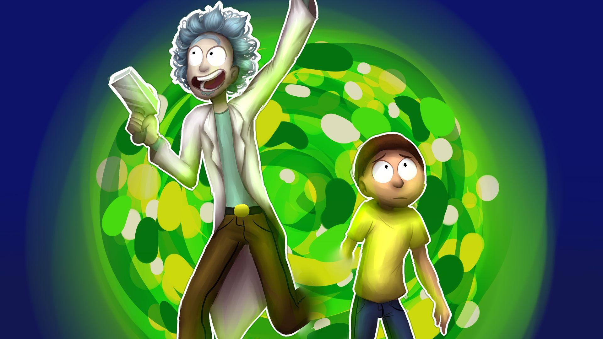 Rick and Morty desktop Portal wallpaper