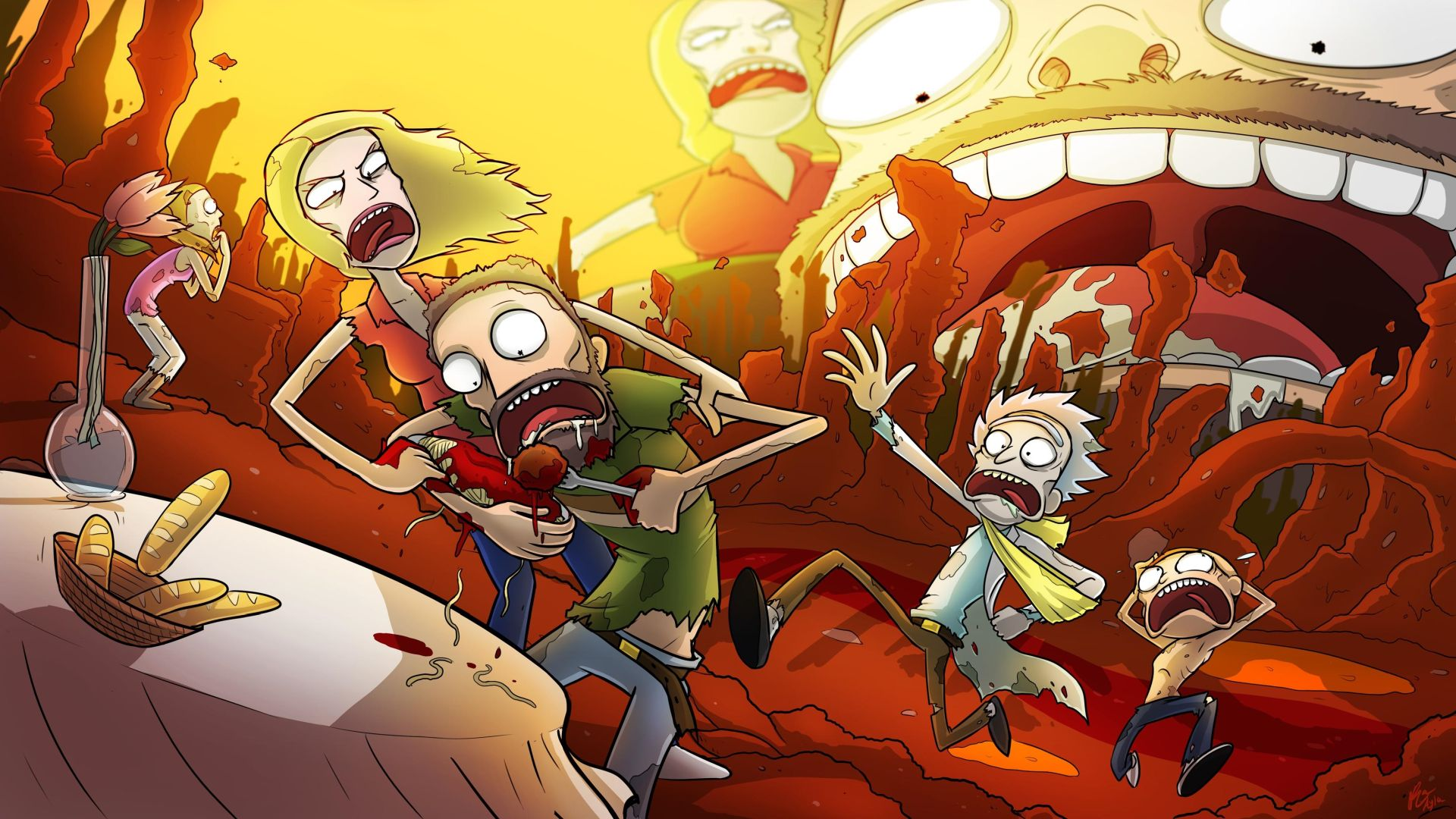 Rick and Morty high resolution wallpaper