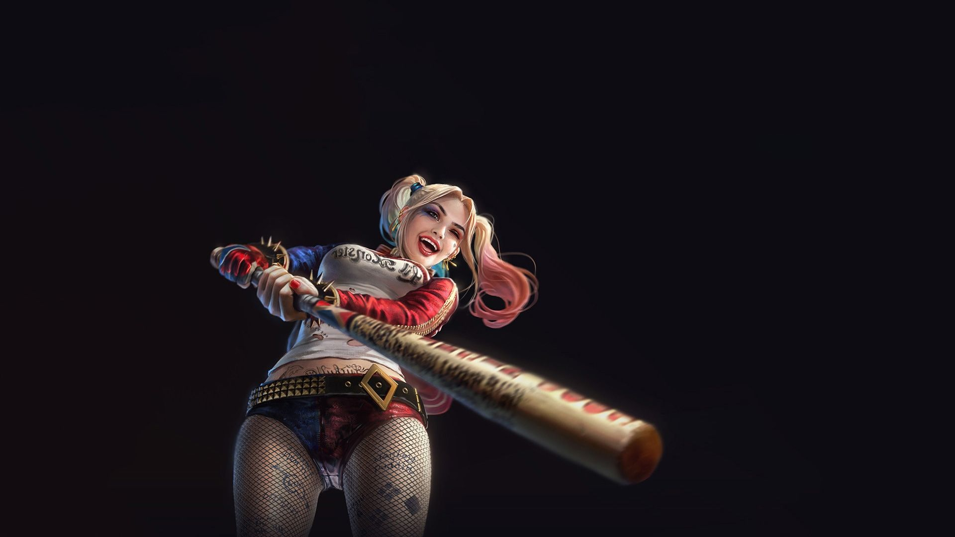 Suicide Squad Harley Quinn art, 1080p Wallpaper