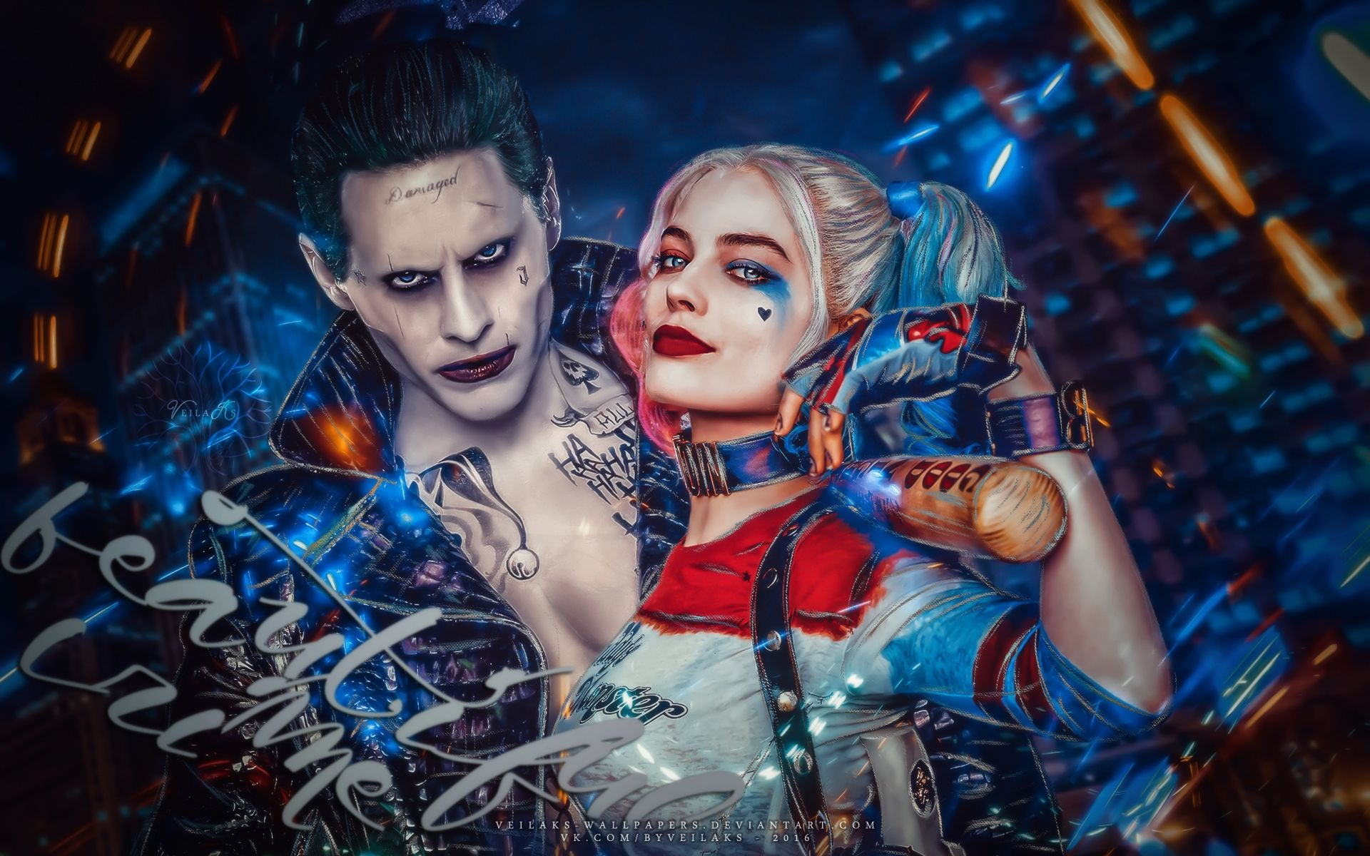 Suicide Squad, Harley Quinn and Joker Wallpaper Theme