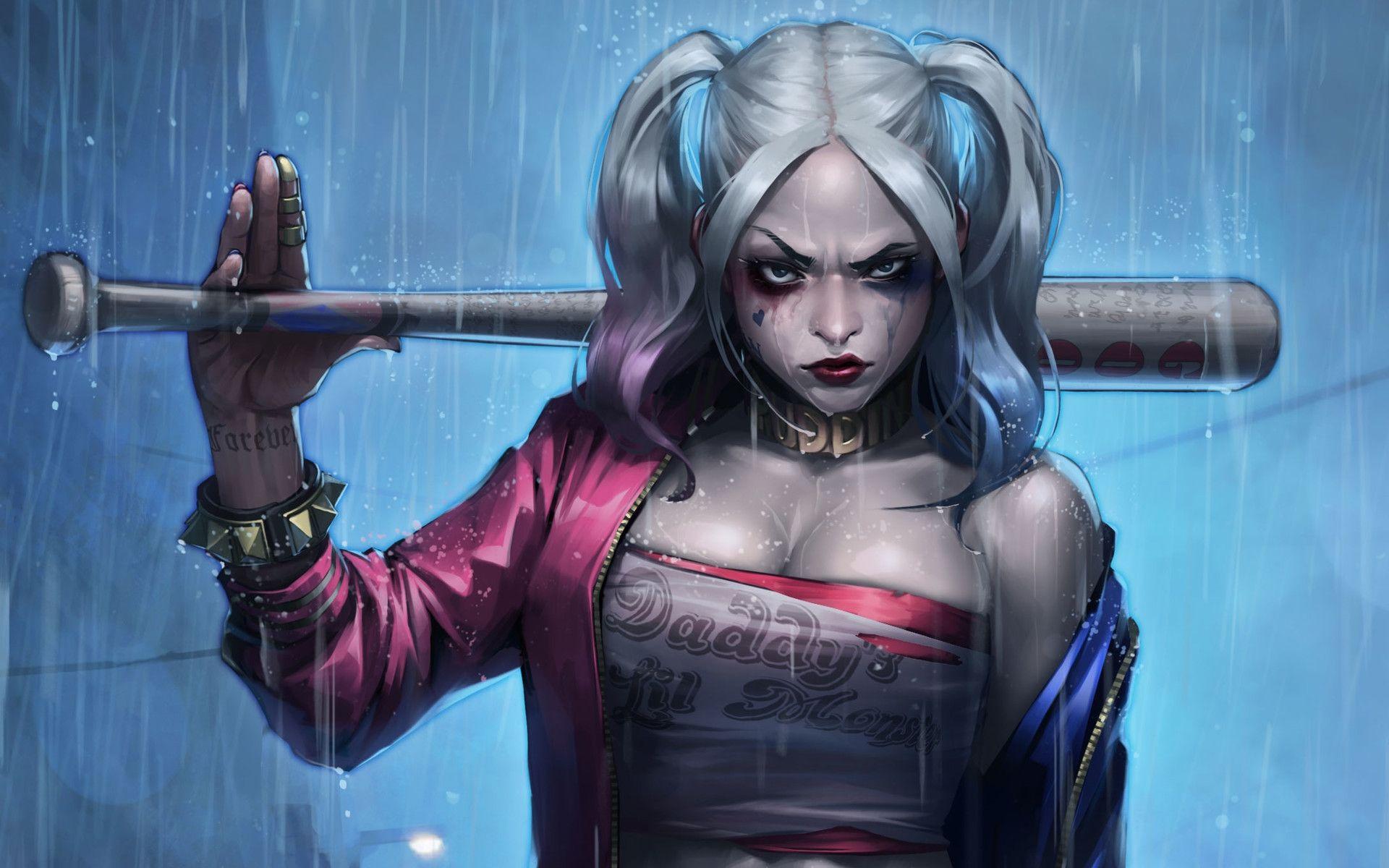 Suicide Squad Harley Quinn art, Wallpaper Theme