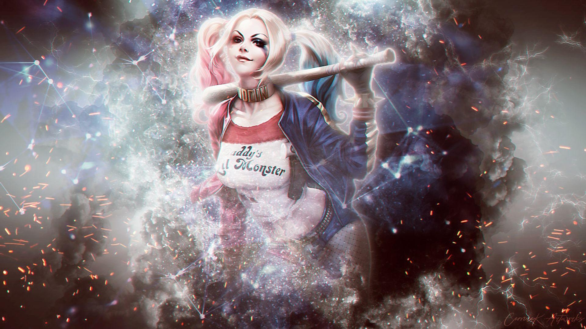 Suicide Squad Harley Quinn art, Computer Wallpaper