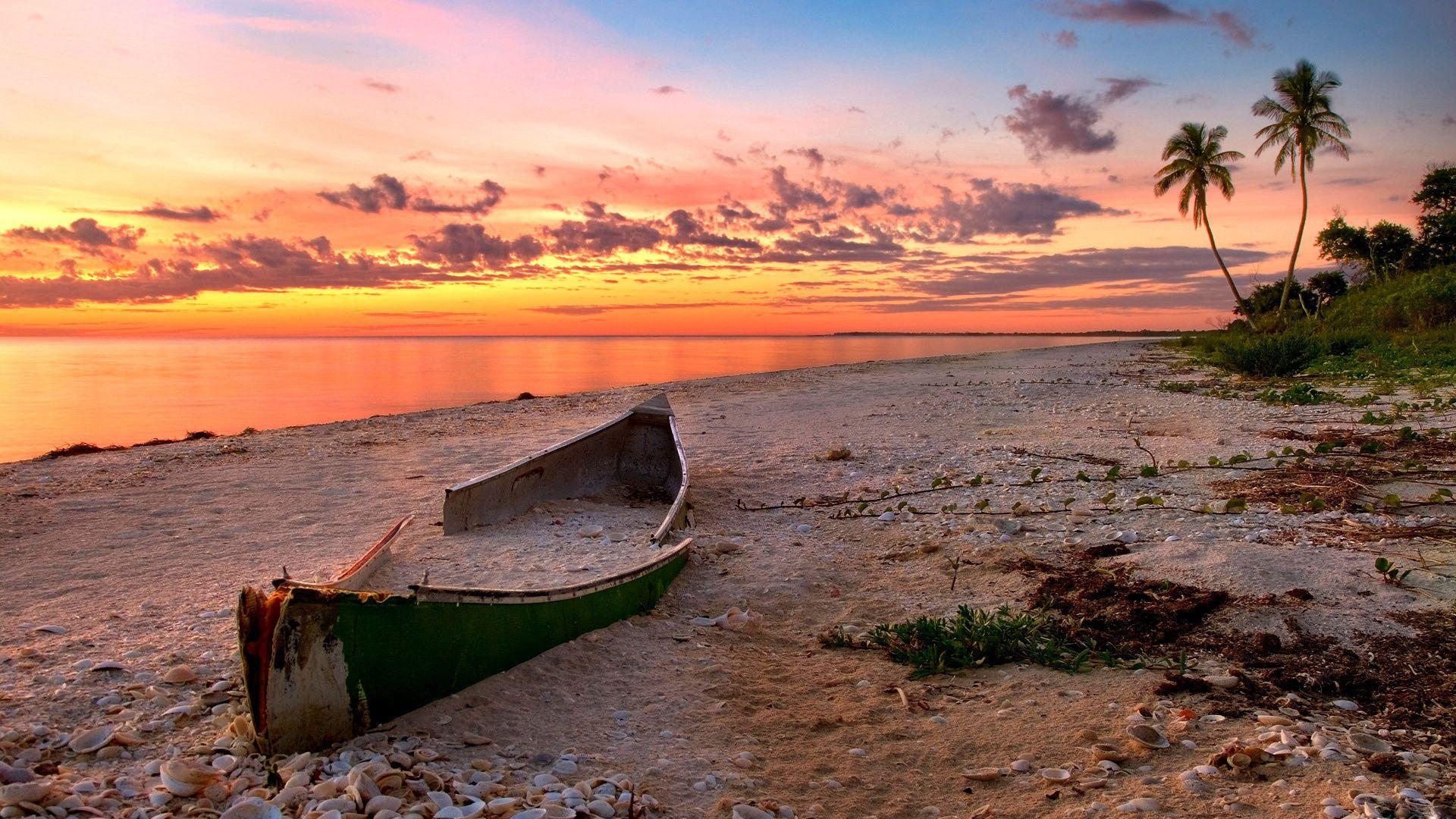 boat, beach, water