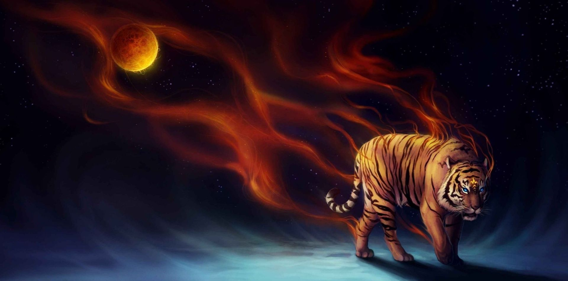 52 Tiger Art Wallpapers Wallpaperboat