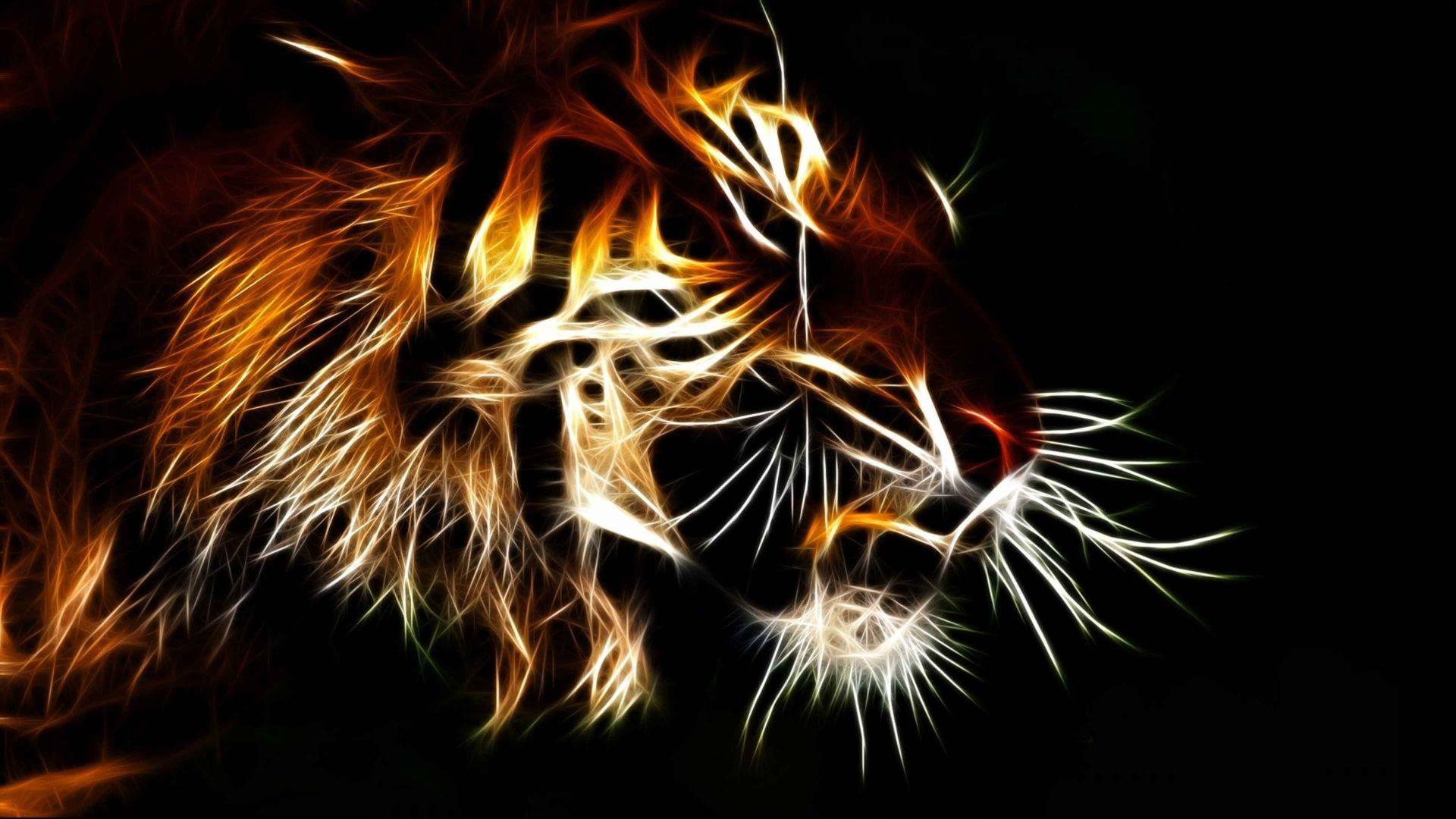 Tiger Art, Background Wallpaper HD