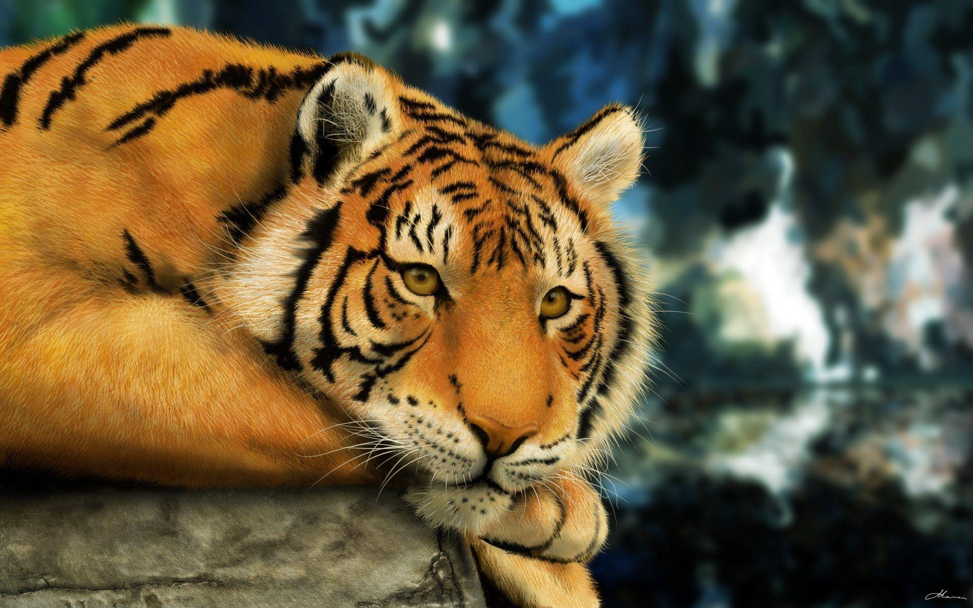 Tiger Art, Download Wallpaper
