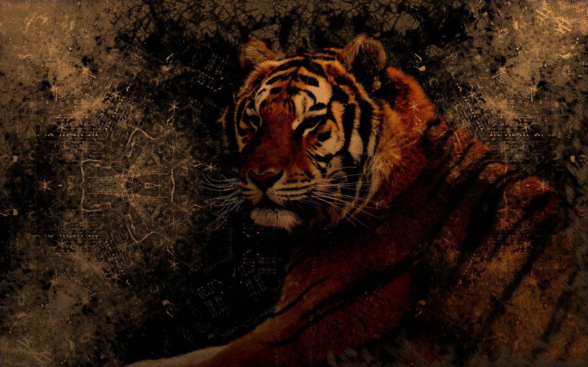 Tiger Art, Full HD Wallpaper