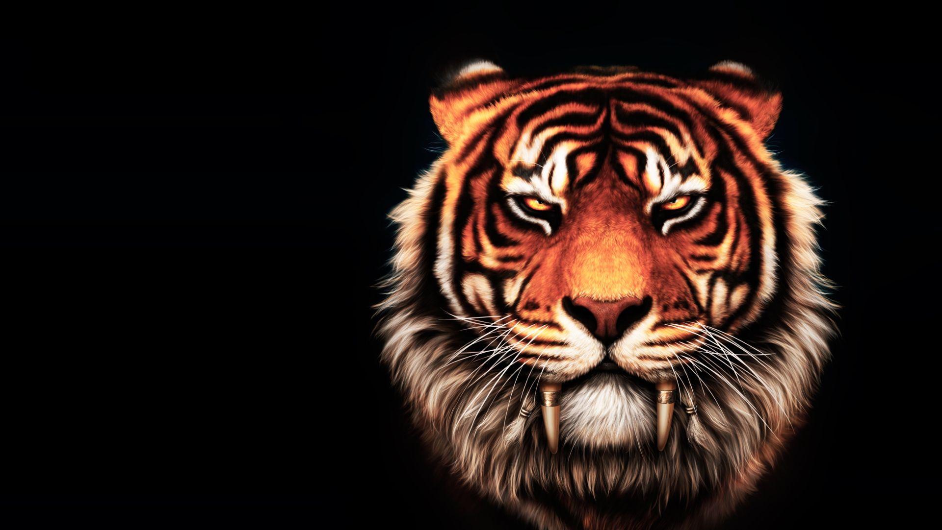 Tiger Art, Free Desktop Wallpaper