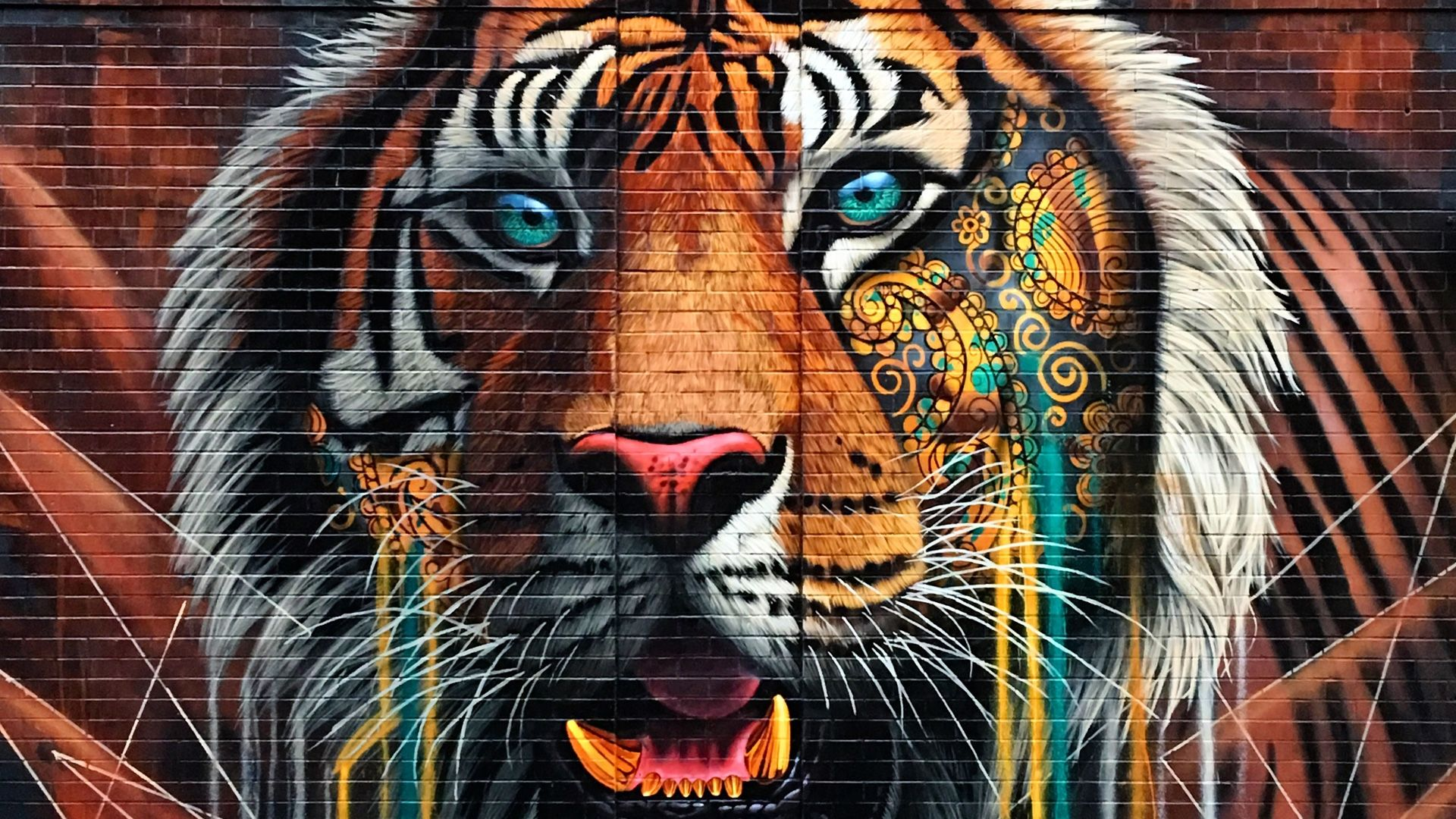 Tiger wall Art, Background