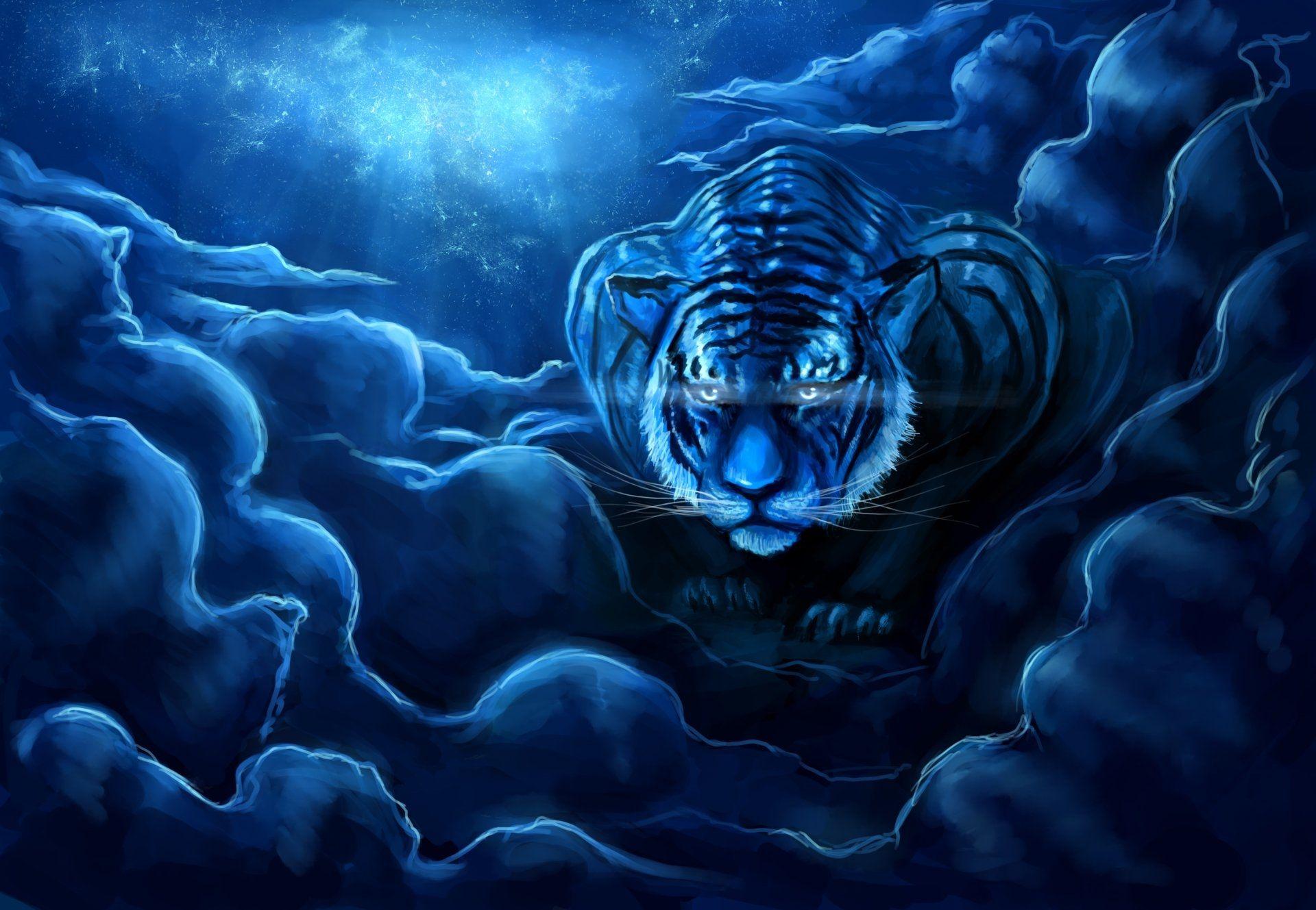 Tiger Art, Cool HD Wallpaper