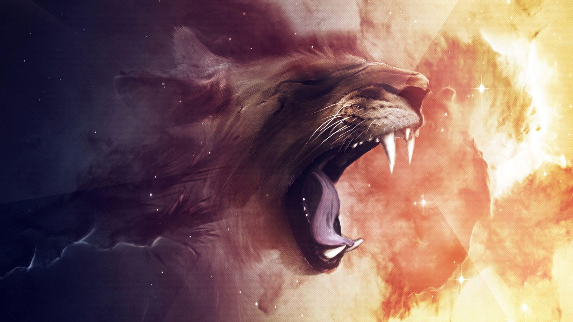 Tiger Roars Art, Computer Wallpaper