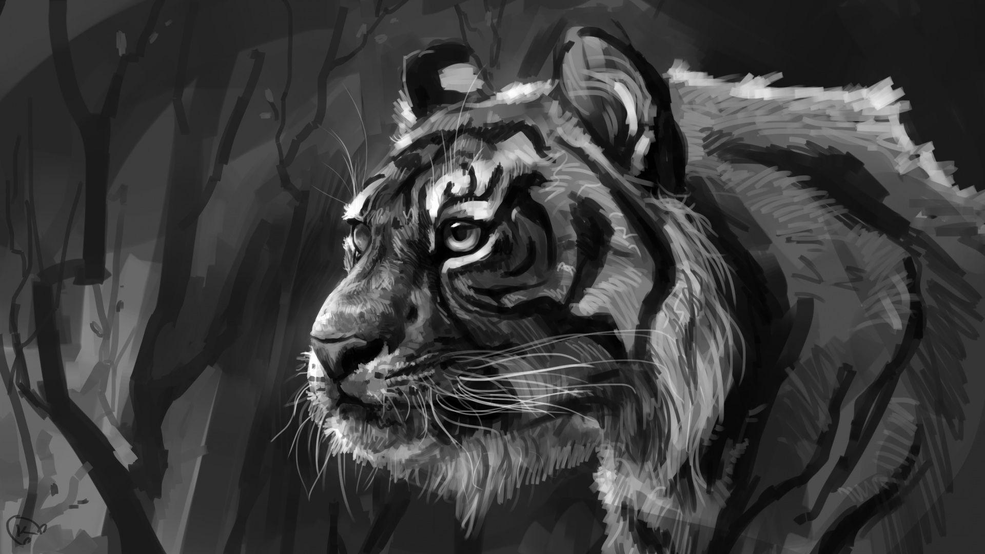 Tiger Art, Desktop Wallpaper