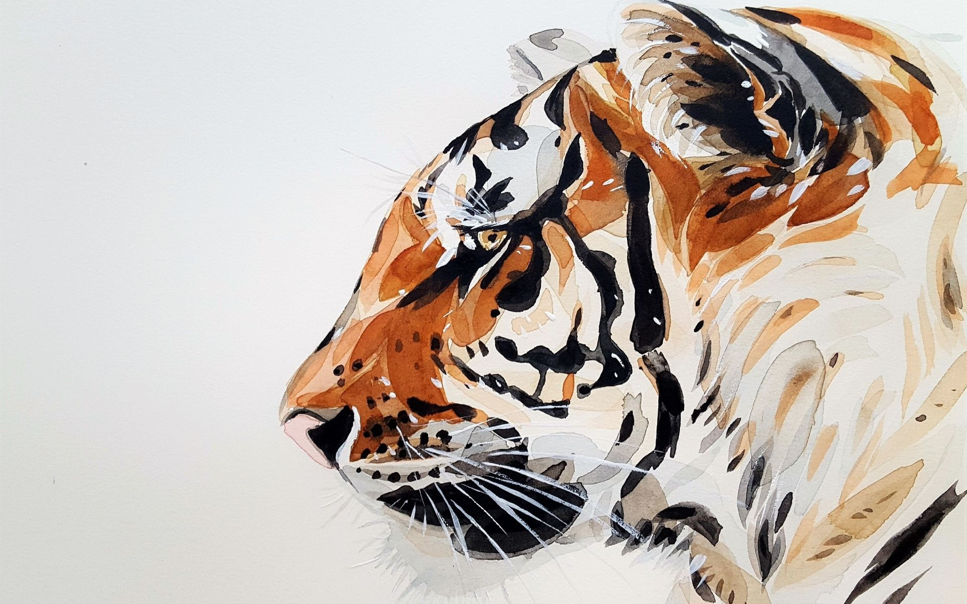 Tiger Art profile, Wallpaper and Background