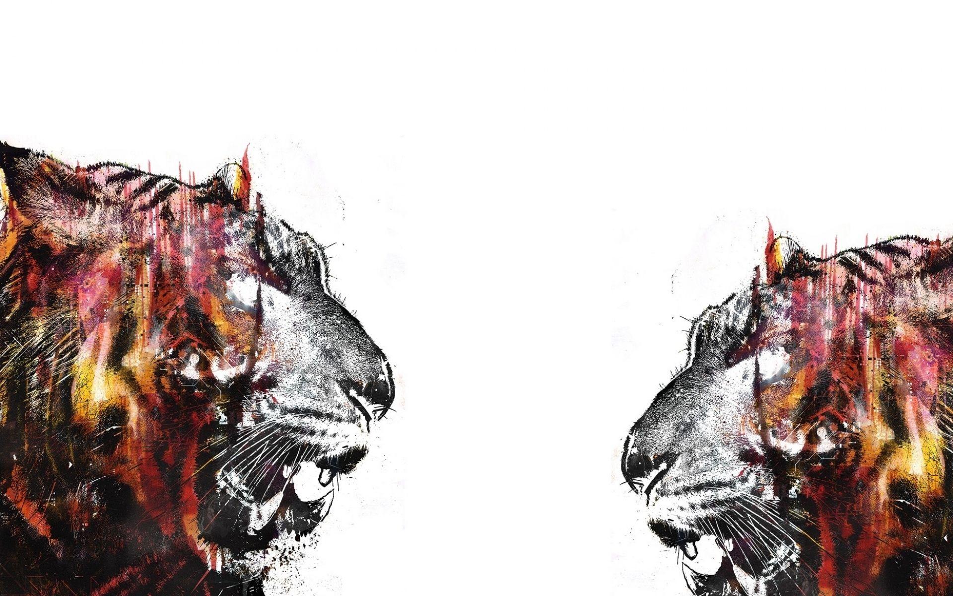 Tiger Art, Background Wallpaper