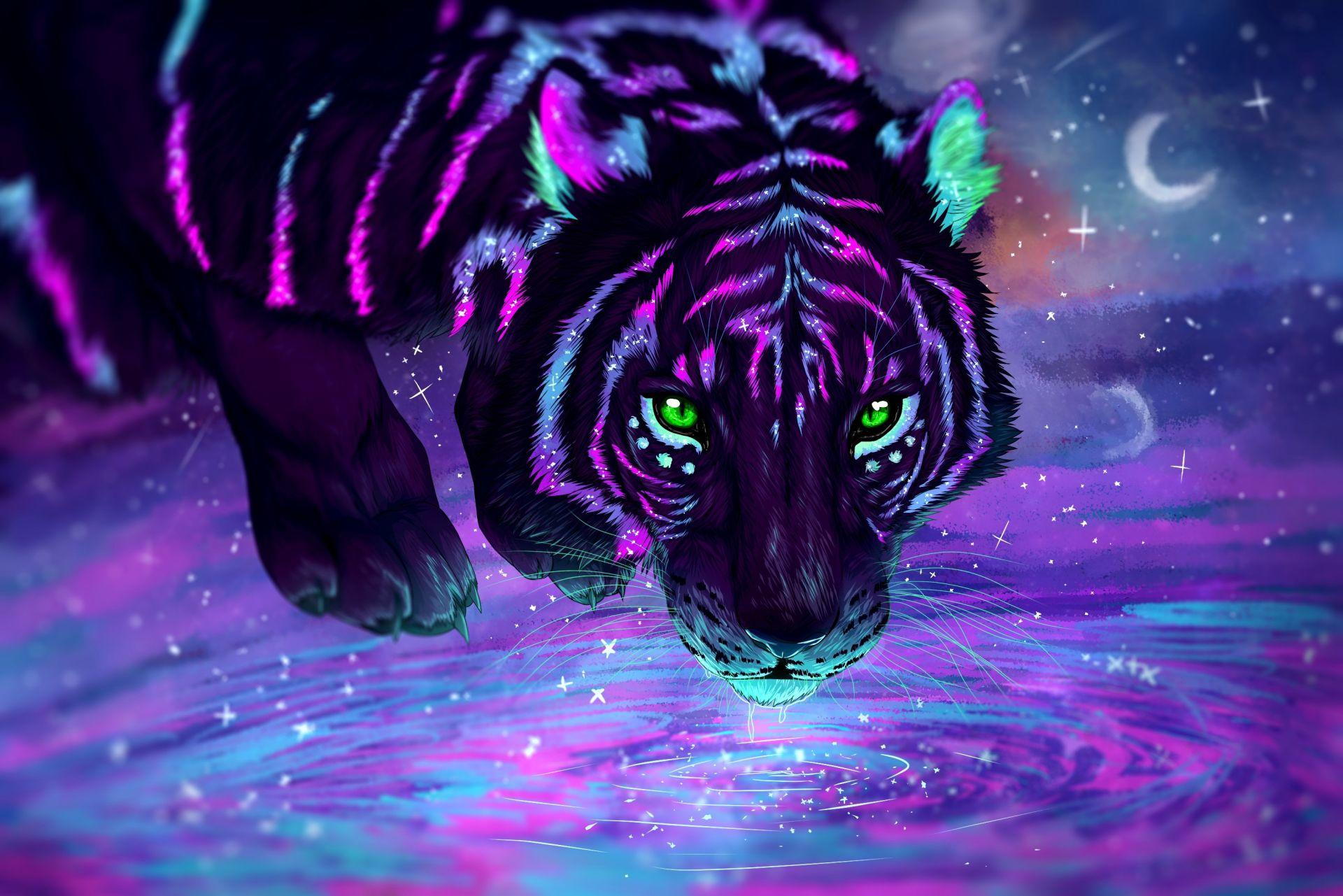 Tiger Art, 1080p Wallpaper
