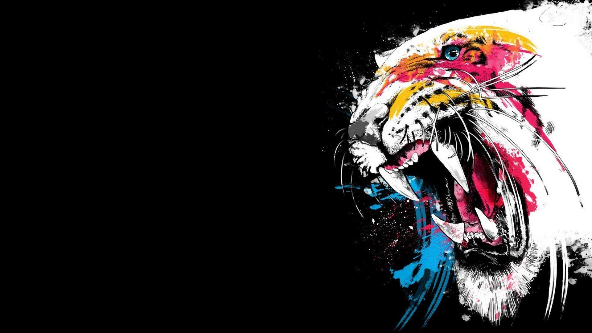 Tiger Art, Cool Wallpaper
