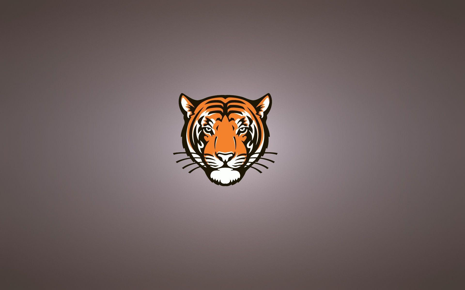 Tiger Art Minimalist, Full HD Wallpaper