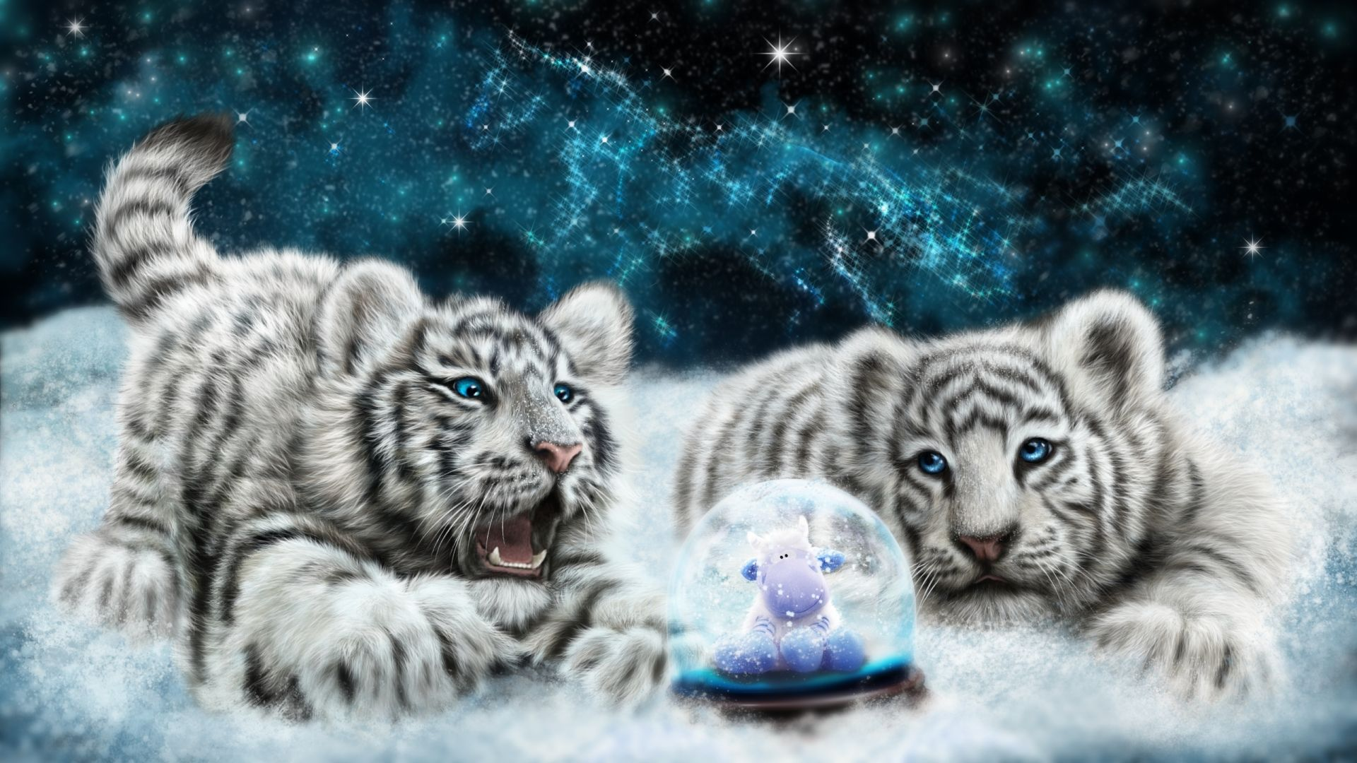 Tiger Baby art, Cool HD Wallpaper