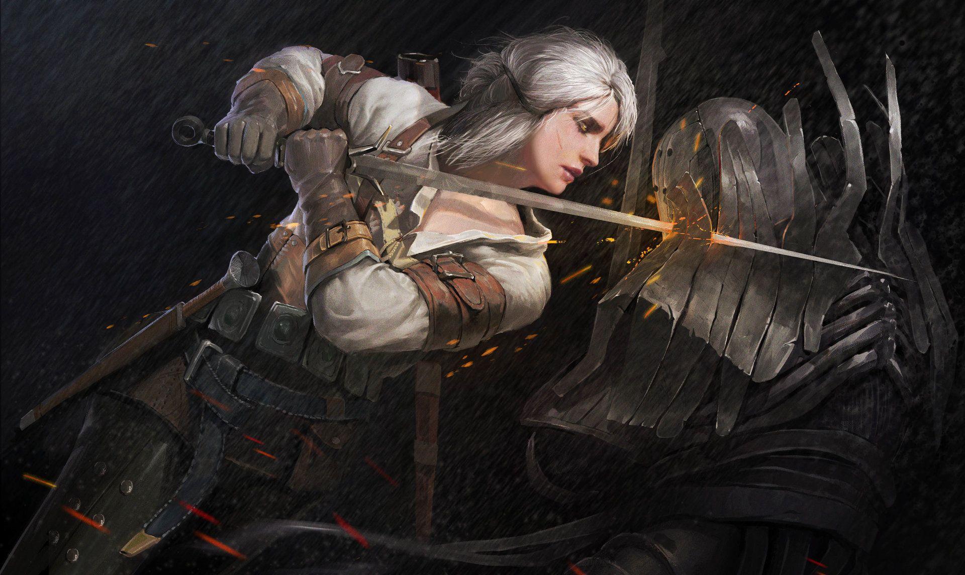 Witcher Ciri art, HD Wallpaper