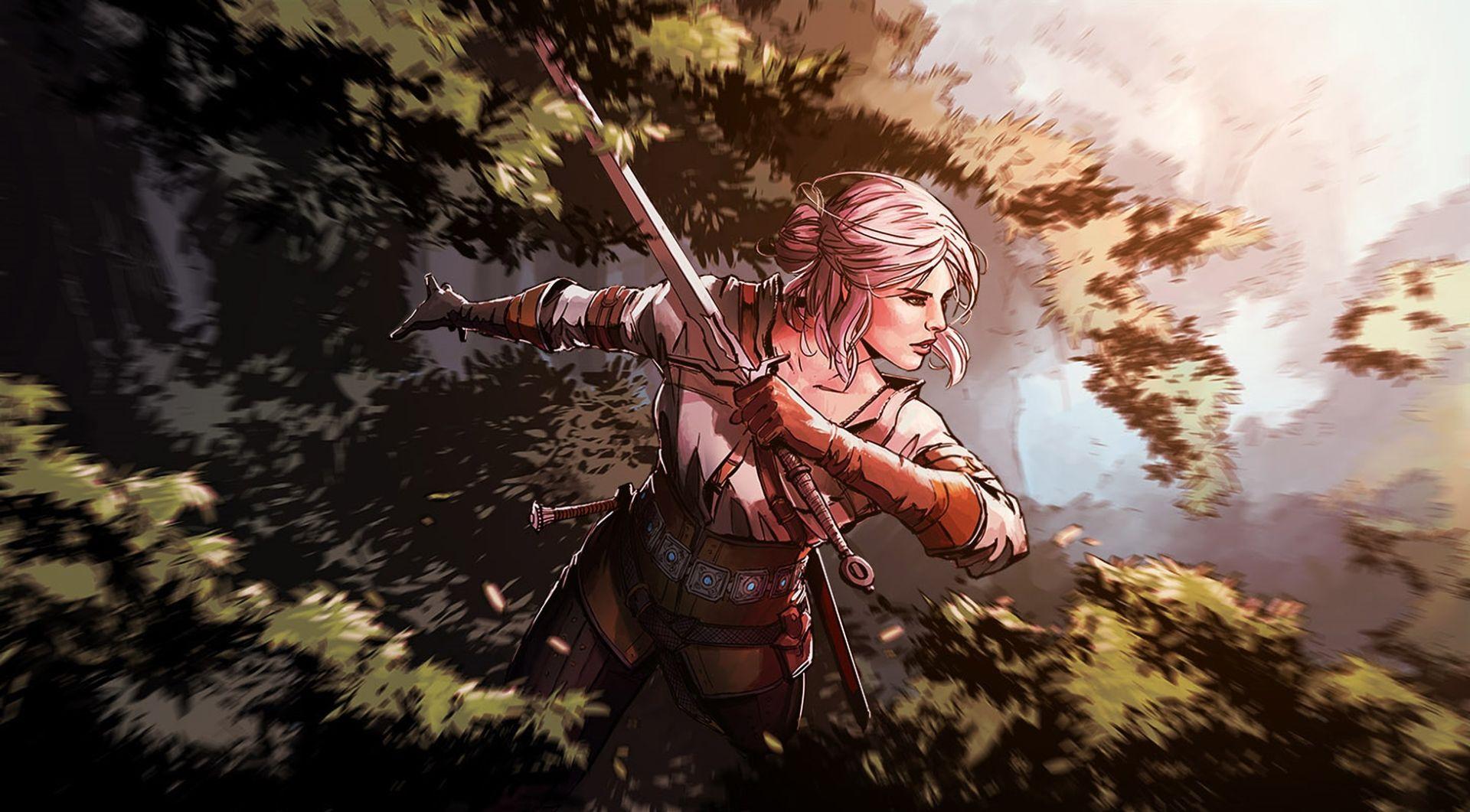 Witcher Ciri art, Download Wallpaper