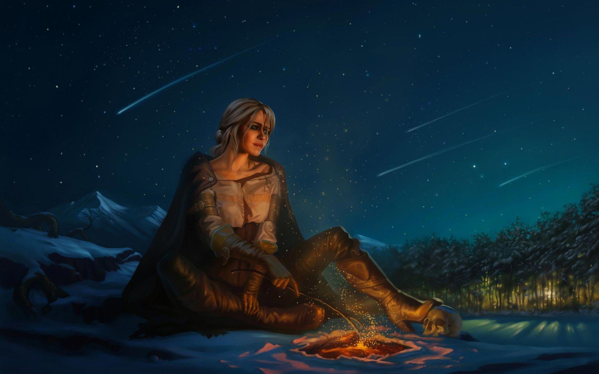 Witcher Ciri art, Cool Wallpaper