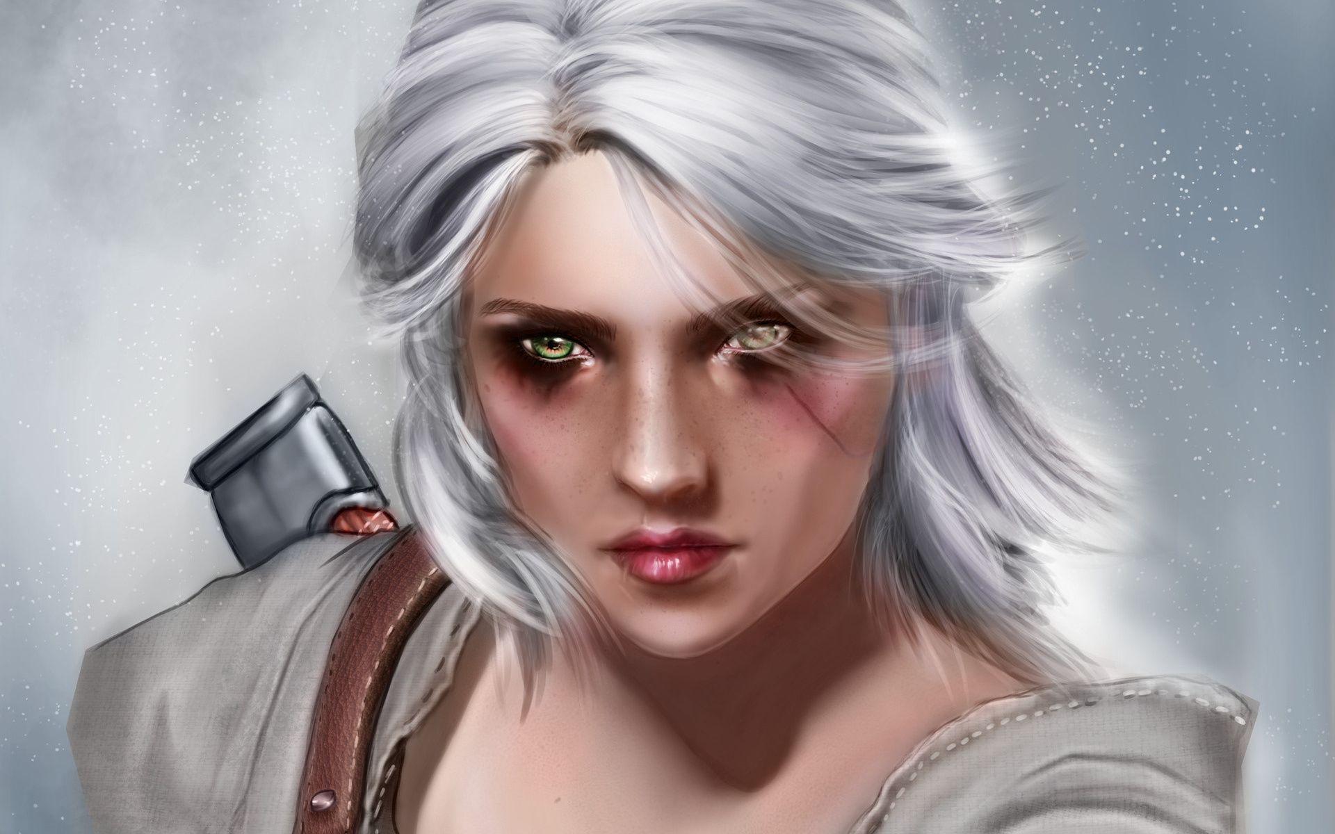 Witcher Ciri, Background Wallpaper HD