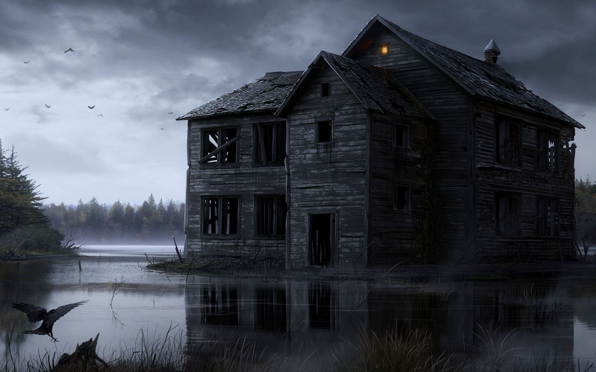 Abandoned House, Art, Scary High Definition