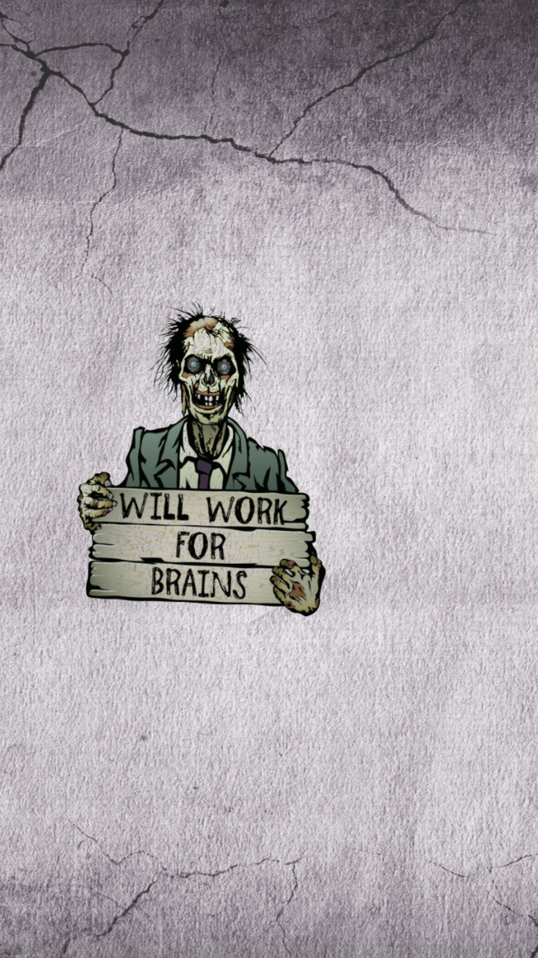 Art Zombies With A Sign