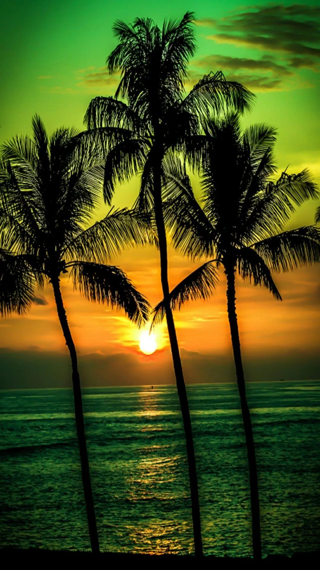 Beautiful Sunset iOS 10 wallpaper