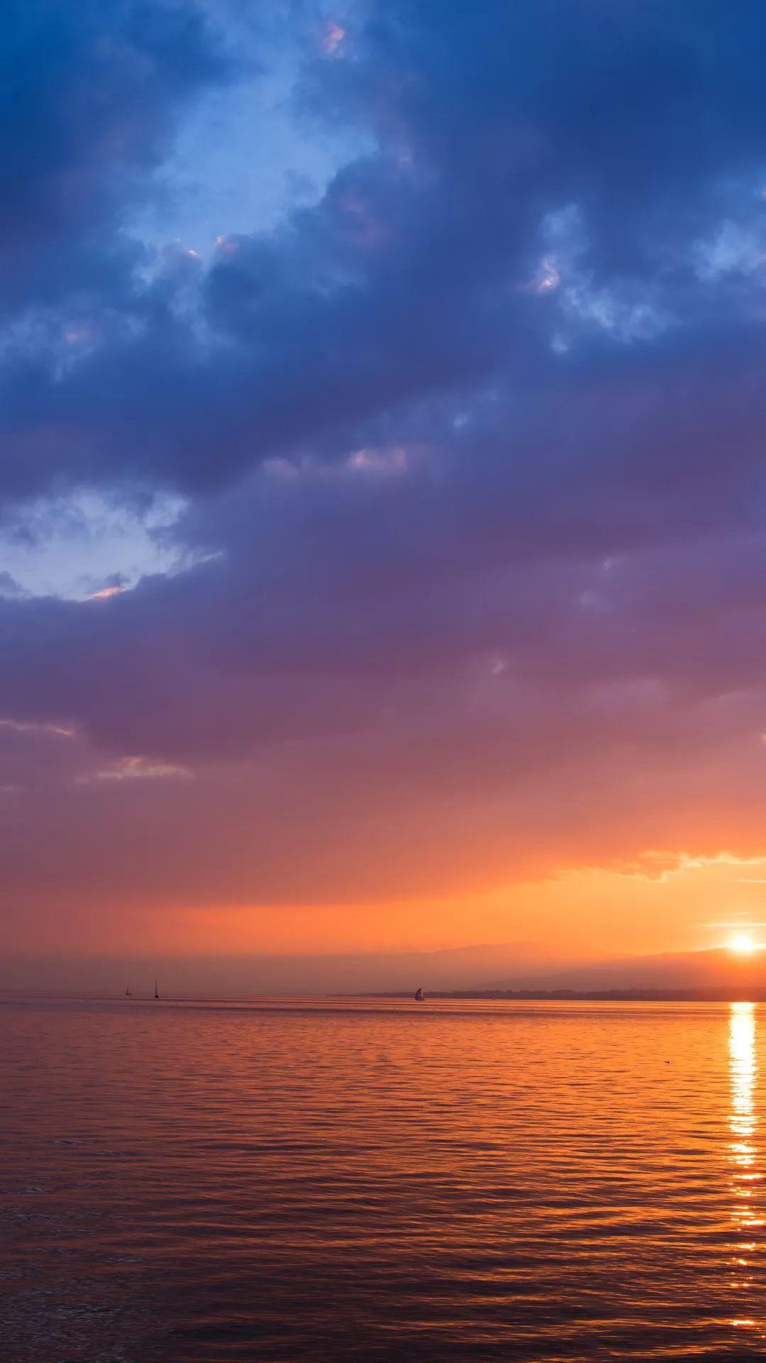 Beautiful Sunset home screen wallpaper