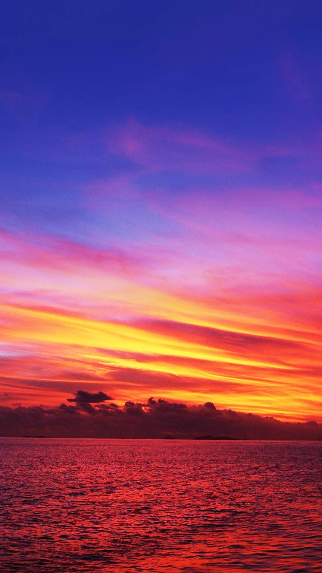 Beautiful Sunset live wallpaper iPhone