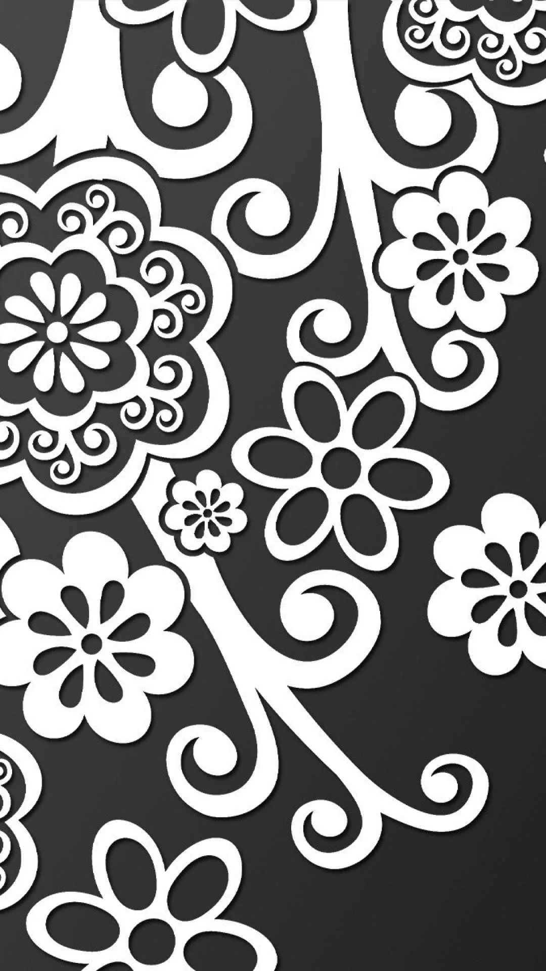 Black And White Flower Galaxy wallpaper iPhone