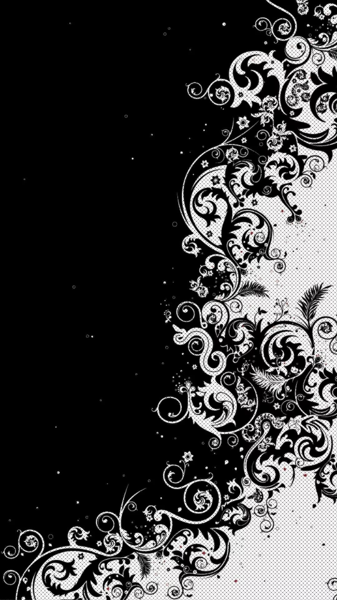 Black And White Flower wallpaper iPhone