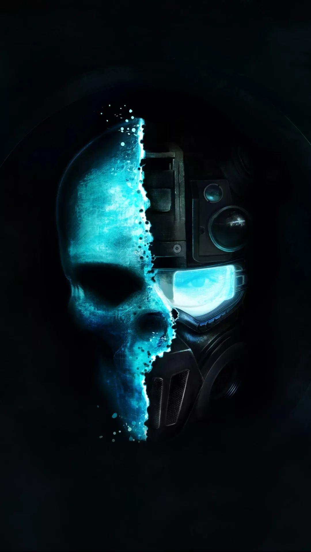 Cool Skull iPhone 5s wallpaper